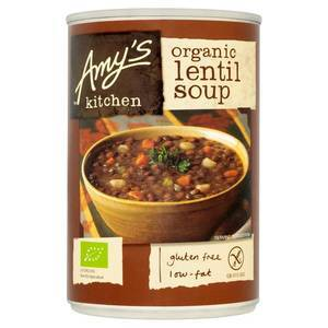 AMYS KITCHEN LENTIL & VEG SOUP 400G