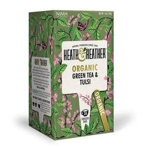 HEATH & HEATHER GREEN TEA & TULSI  20S