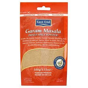 EAST END GARAM MASALA SPEZIA INDIANA 100G