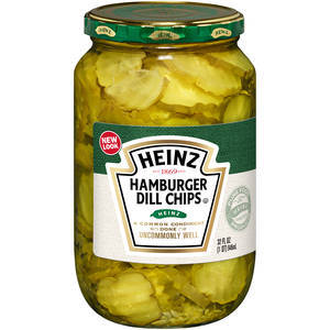 HEINZ HAMBURGER DILL CHIPS 473ML