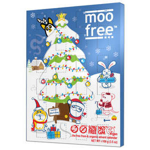 CHRISTMAS - MOO FREE ADVENT CALENDAR 100G