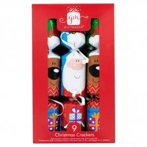 SANTA & REINDEER SMALL CRACKERS (9)