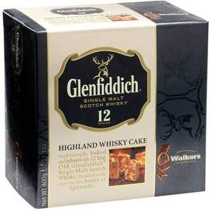 CHRISTMAS WALKERS GLENFIDDICH CAKE 400G