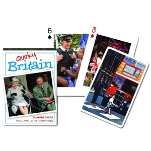 GIBSONS PLAYING CARDS QUIRKY BRITAIN