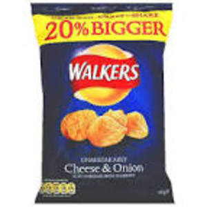 WALKERS CRISPS CHEESE & ONION 80G