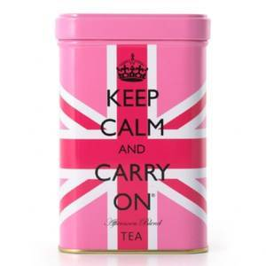 KEEP CALM & CARRY UNION JACK TIN WITH TEA 120G