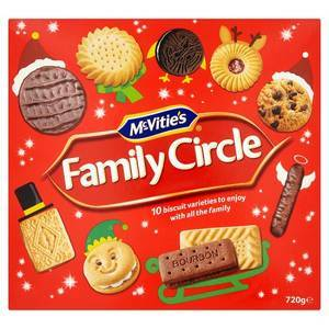 MCVITIES FAMILY CIRCLE MIXED BISCUITS 650OG