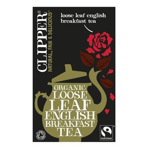 CLIPPER ORGANIC ENGLISH BREAKFAST TEA (loose) 125g  best by 05/12/2019