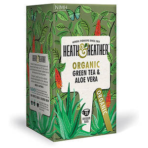 HEATH & HEATHER GREEN TEA WITH ALOE 20s