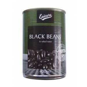 EPICURE BLACK BEANS 400G