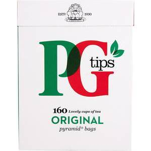 PG TIPS PYRAMID TEA BAGS (160)