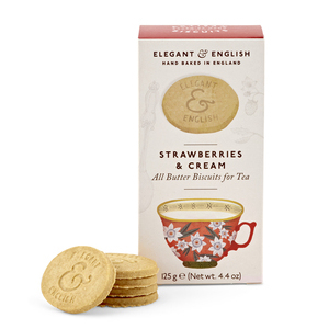 ARTISAN BISCUITS STRAWBERRY AND CREAM 125G