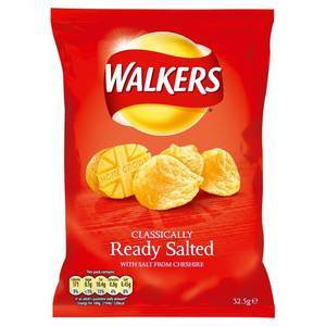 WALKERS READY SALTED 90G