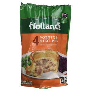 HOLLAND'S POTATO & MEAT PIES 4PK