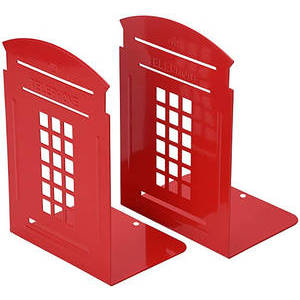 TELEPHONE CABIN BOOKENDS