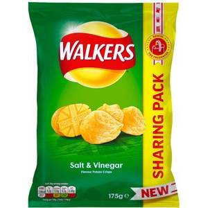 WALKERS SALT & VINEGAR CRISPS 175G