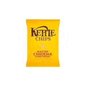 KETTLE CHIPS CHEDDAR & ONION 40G