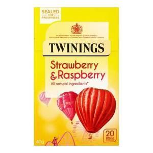 TWININGS STRAWBERRY & RASPBERRY HERBAL TEA 20s