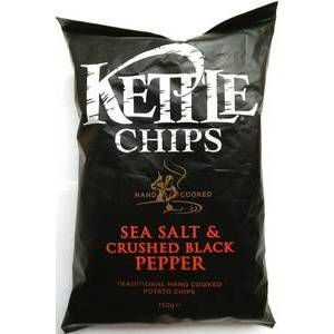 KETTLE CHIPS BLACK PEPPER 150g