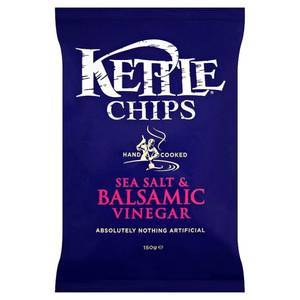 KETTLE CHIPS SALT AND BALSAMIC VINEGAR 150g