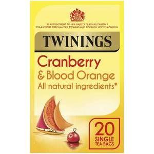 TWININGS HERBAL TEA CRANBERRY & BLOOD ORANGE 20S