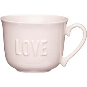 KitchenCraft Stoneware Embossed Love Breakfast Cup