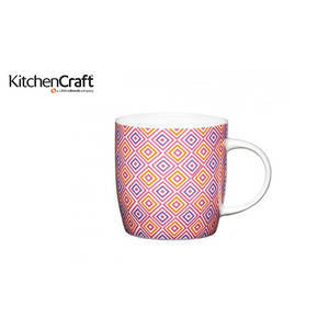 KitchenCraft China Moroccan Diamonds Barrel Mug
