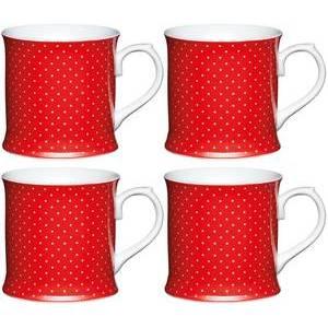 KitchenCraft tazza rossa con puntini bianchi  in porcellana
