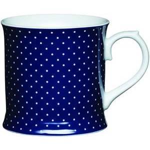 KitchenCraft Fine Porcelain Navy Spotty Mug