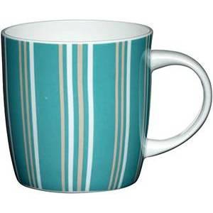 Kitchen Craft Fine Bone China Blue Stripe Barrel Mug