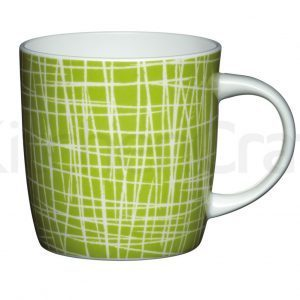 KitchenCraft Fine Bone China Crosshatch Barrel Mug