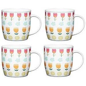 Kitchen Craft tazza in porcellana con disegni  floreali (fiori medi)