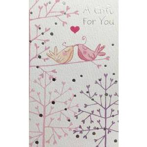 GREETING CARD A GIFT FOR YOU BIRDS