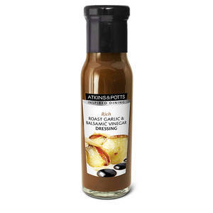 ATKINS & POTTS ROAST GARLIC & BALSAMIC DRESSING 220G best by 01/11/2020