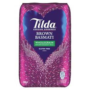 TILDA WHOLE GRAIN BASMATI 500G best by 01/2021