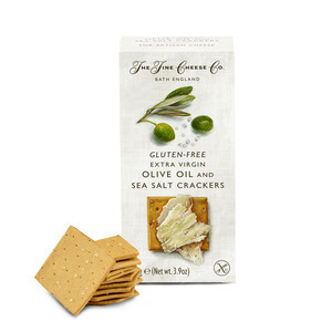 THE FINE CHEESE CO. GLUTEN FREE OLIVE OIL AND SEA SALT CRACKERS 110G