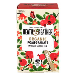 HEATH & HEATHER ORGANIC POMEGRANATE 20S best by 12/2019