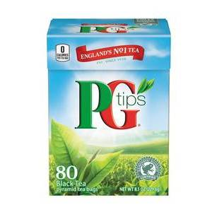 PG TIPS 80 PYRAMID BAGS best by 12/2019