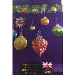 FARMHOUSE BISCUITS GINGER BISCUITS IN BAUBLE TIN 400G