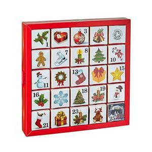 ENGLISH TEA SHOP ADVENT CALENDAR ORNAMENTS