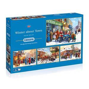 GIBSONS WINTER ABOUT TOWN PUZZLE  4X500 by Kevin Walsh