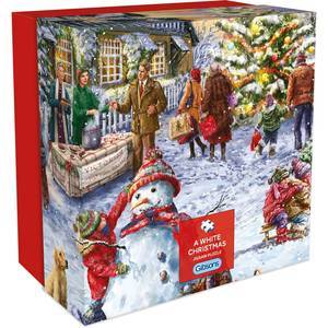GIBSONS A WHITE CHRISTMAS PUZZLE 500PCS