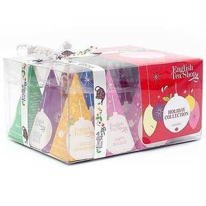 ENGLISH TEA SHOP RED BAUBLES TEA HOLIDAY COLLECTION 12S