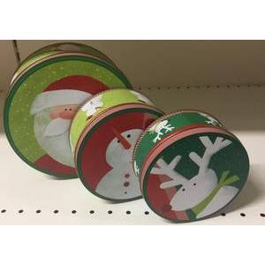 SET OF 3 CHRISTMAS TINS
