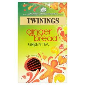 TWININGS GINGERBREAD GREEN TEA 20S