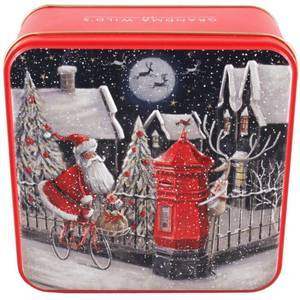 GRANDMA WILD'S EMBOSSED SANTA ON A BIKE TIN 160G