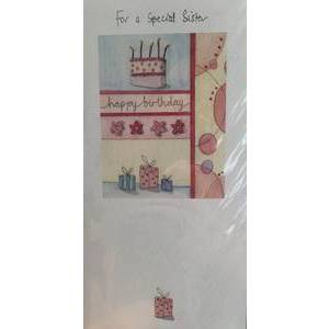 GREETING CARD - SPECIAL SISTER BIRTHDAY