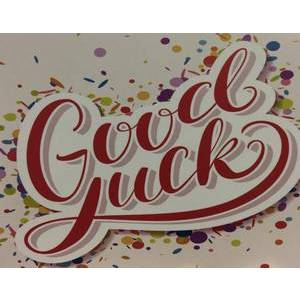 GREETING CARD - GOOD LUCK BLANK