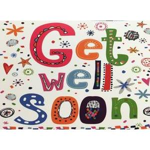 GREETING CARD - GET WELL SOON BLANK INSIDE