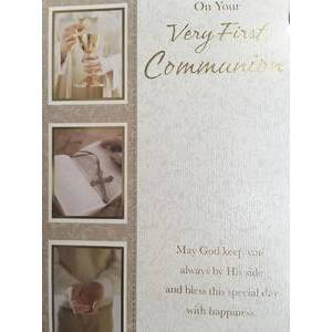 GREETING CARD - VERY FIRST COMMUNION